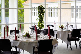 Banquet at Scandic Silkeborg, example of table setting