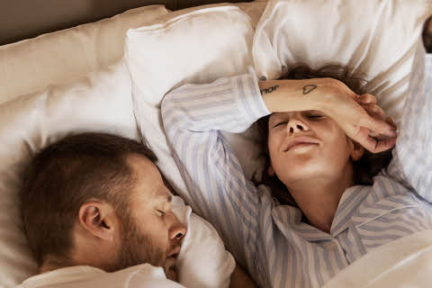 sleeping couple at scandic hotels