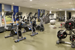 Gym of Scandic Continental in Stockholm