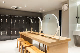 Sauna dressing room