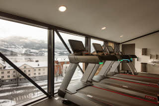 gym at scandic voss in norway