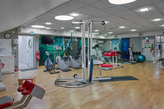 gym at scandic ch gavle  in sweden