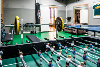 Football table in activity room