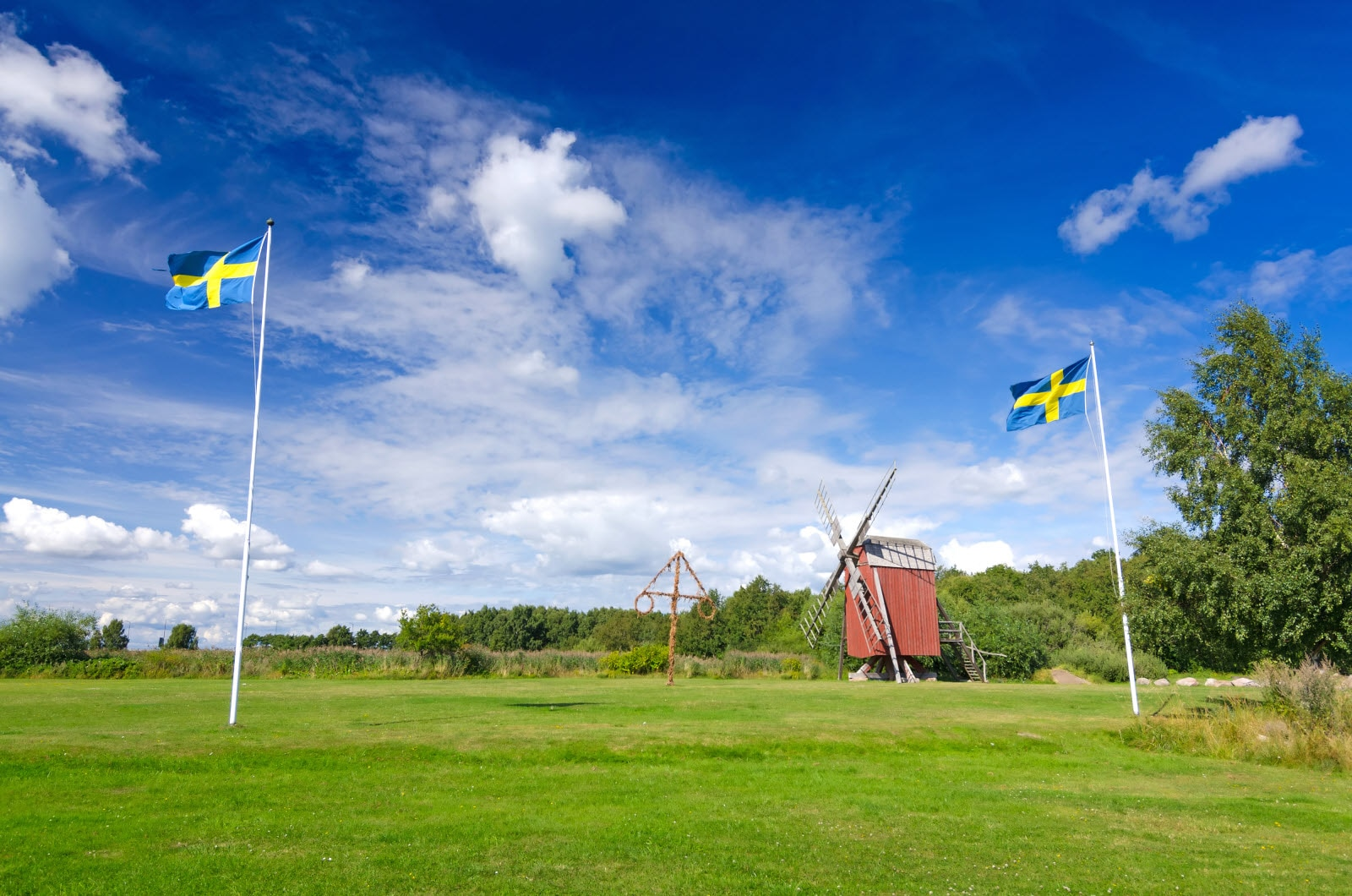 Sweden Windmill Flags