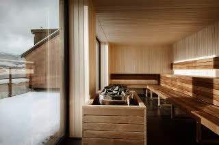 sauna at scandic voss in norway