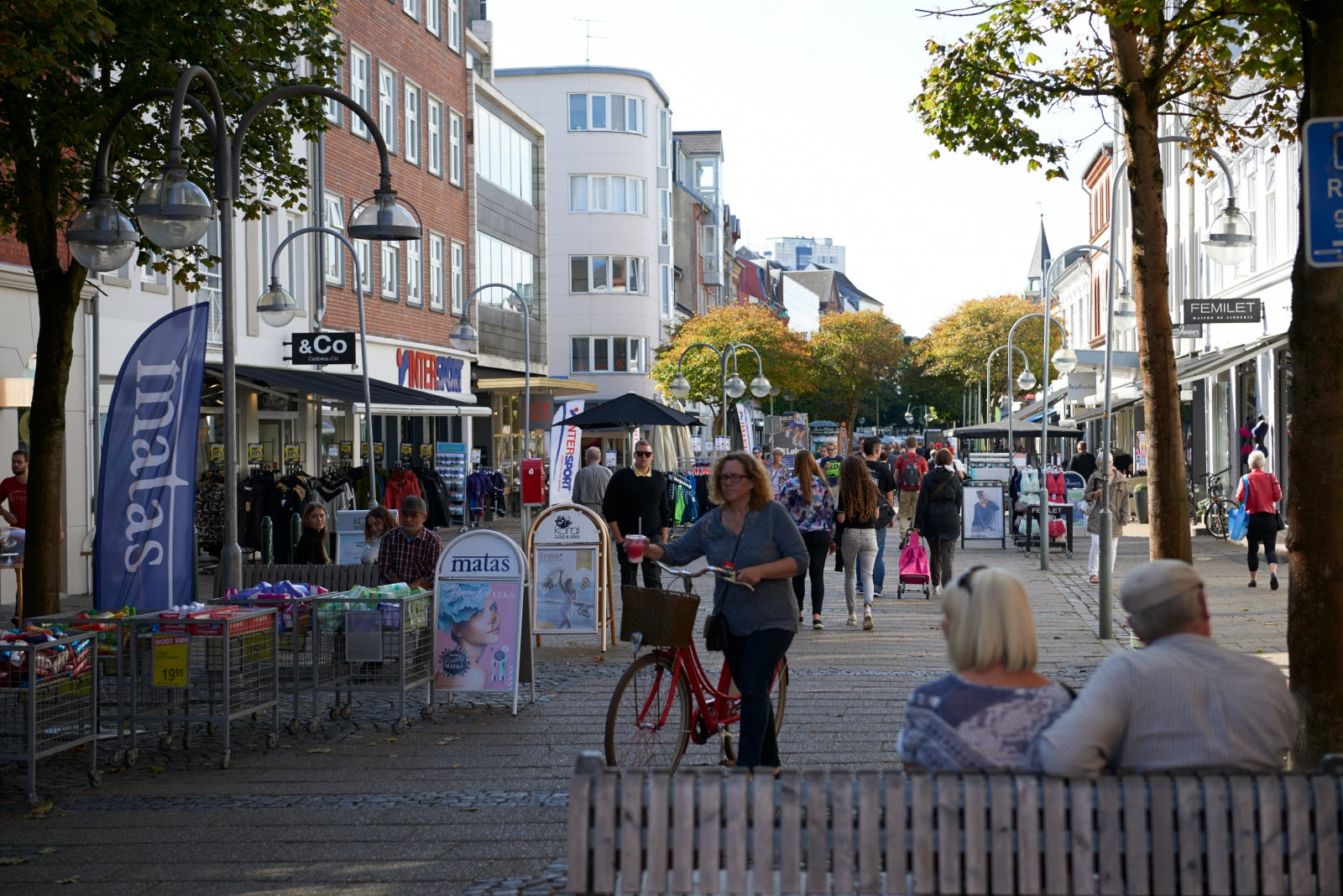 Shopping street in Herning