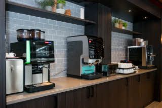 Coffee machines in restaurant