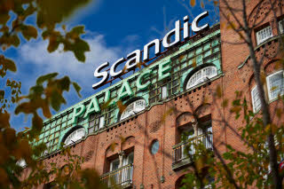Facede of  Scandic Palace Hotel in Copenhagen