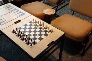 table chess at bar haik at scandic voss in norway