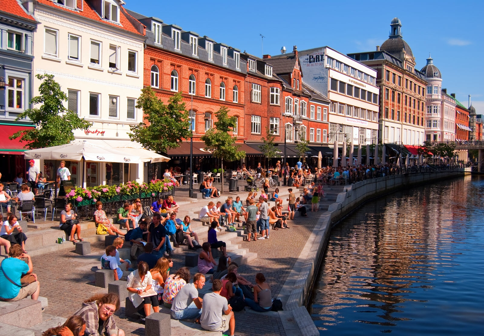 The canal in Aarhus
