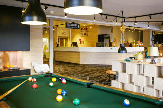 Scandic Uppsala Nord, reception, lobby, pool table
