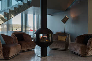 Scandic Havet, Bodo, lobby, lounge, fireplace