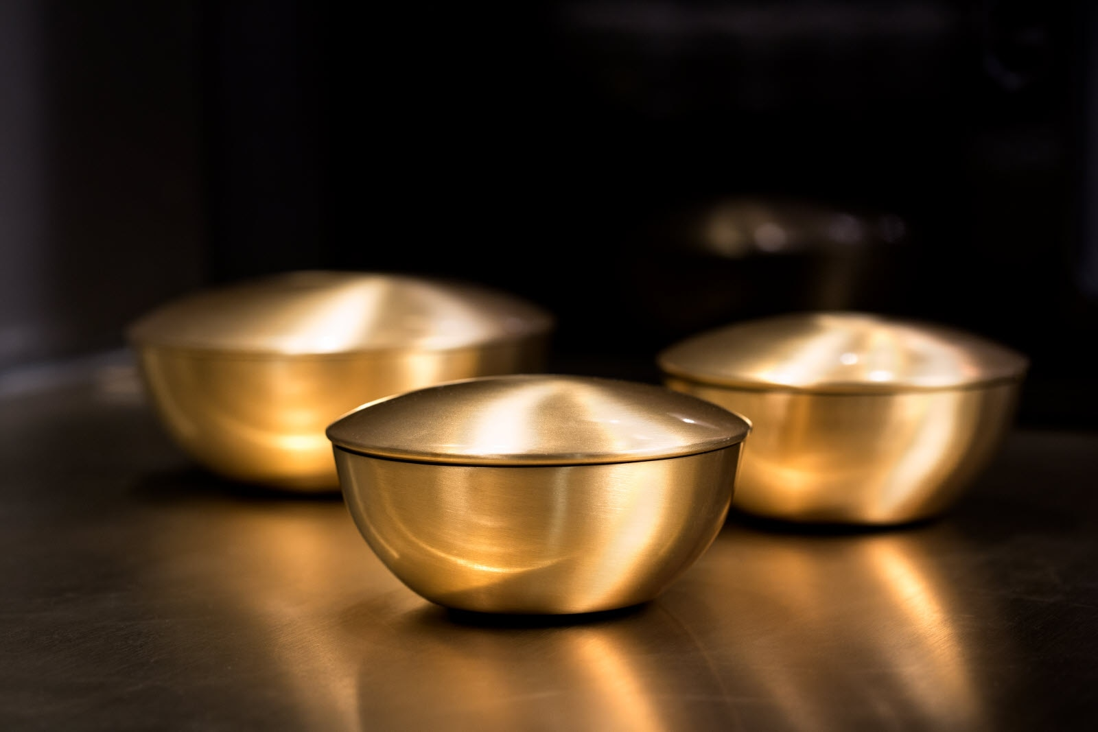 Detail of bowls in meeting room