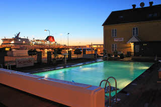 Scandic Visby, pool, night