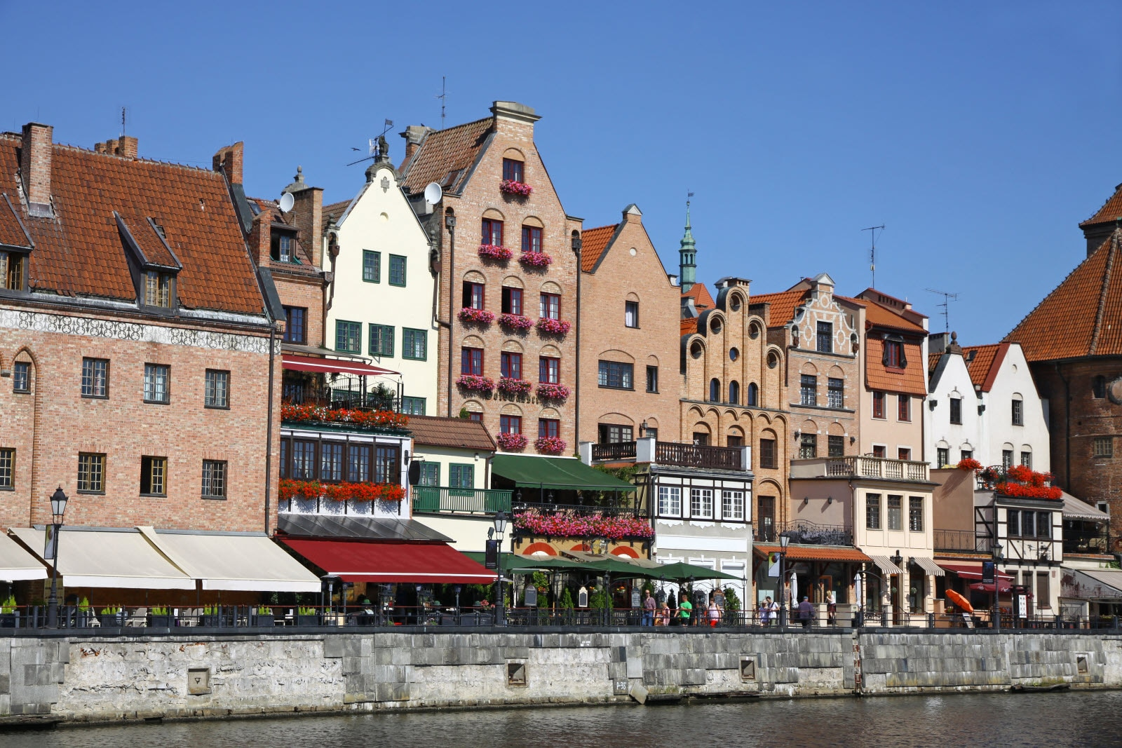 Colourful buildings in City of Gdansk, Poland