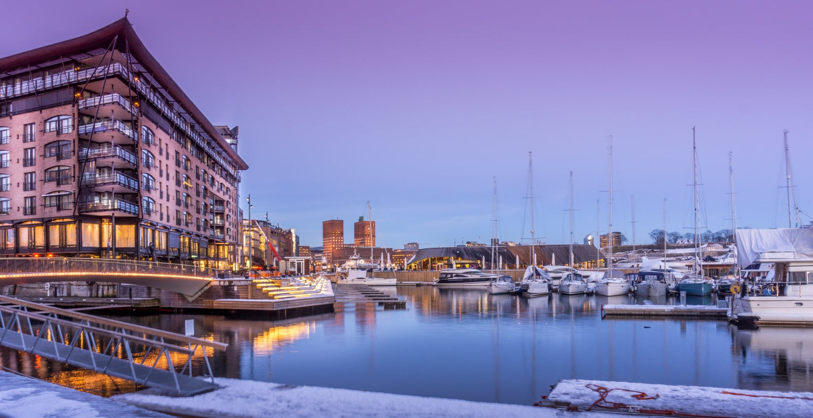 Aker Brygge on a winter day