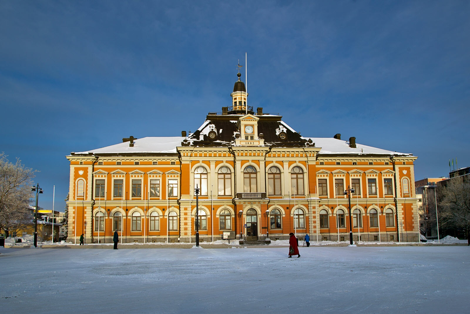 City hall in Winter