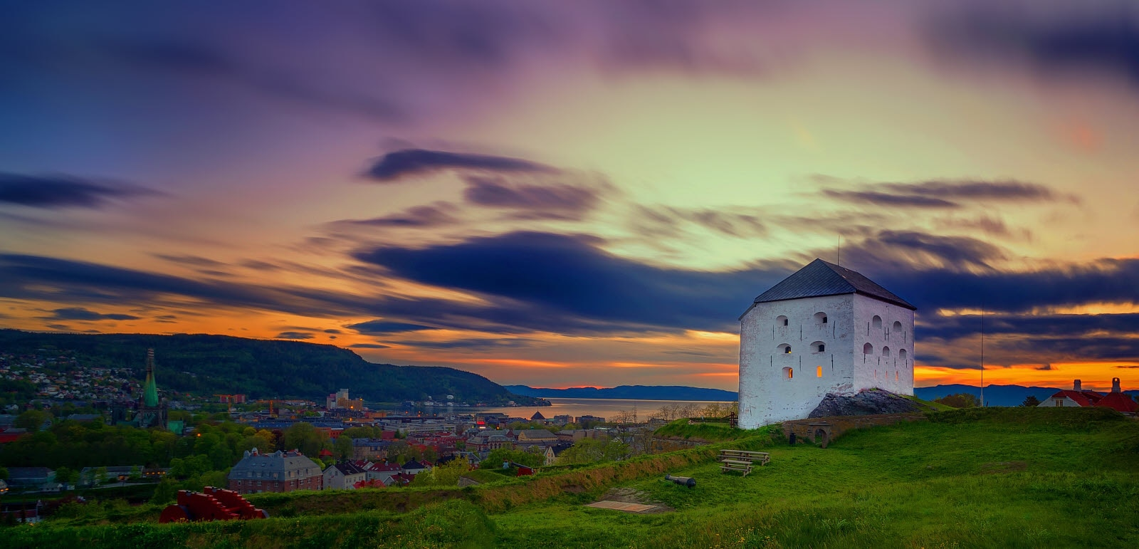 Kristiansten Fortress is located on a hill east of the city of Trondheim in Sør-Trøndelag county, Norway.