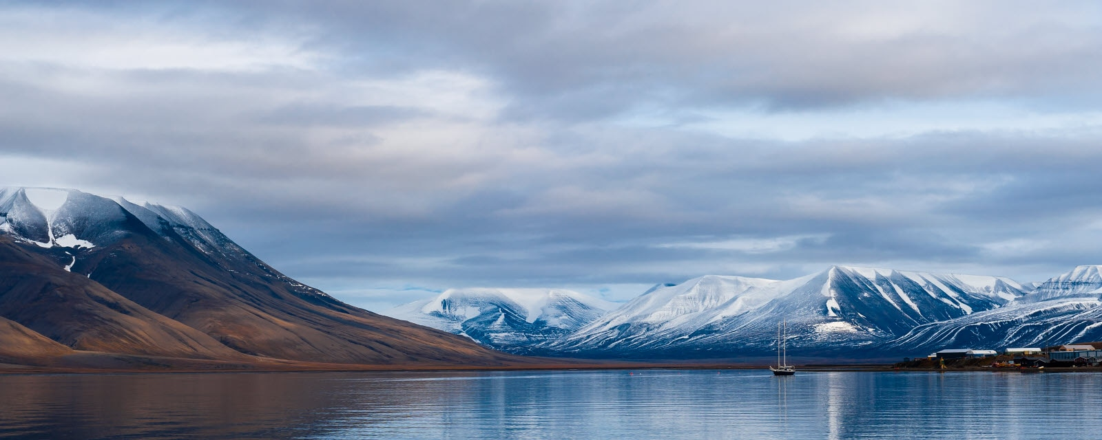 Surrounded by the beautiful nature in Svalbard
