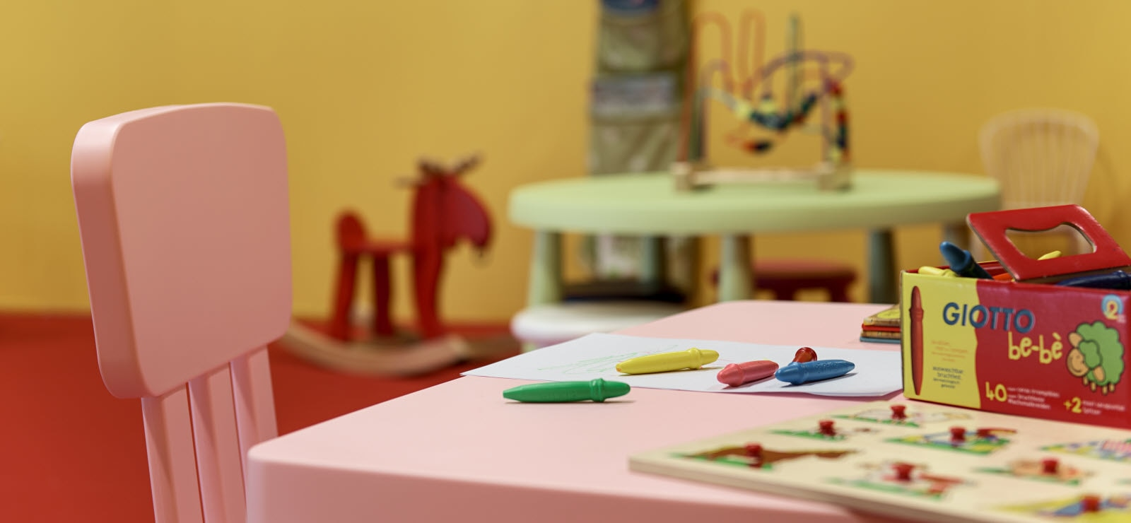 Scandic Talk, lounge, kids playroom