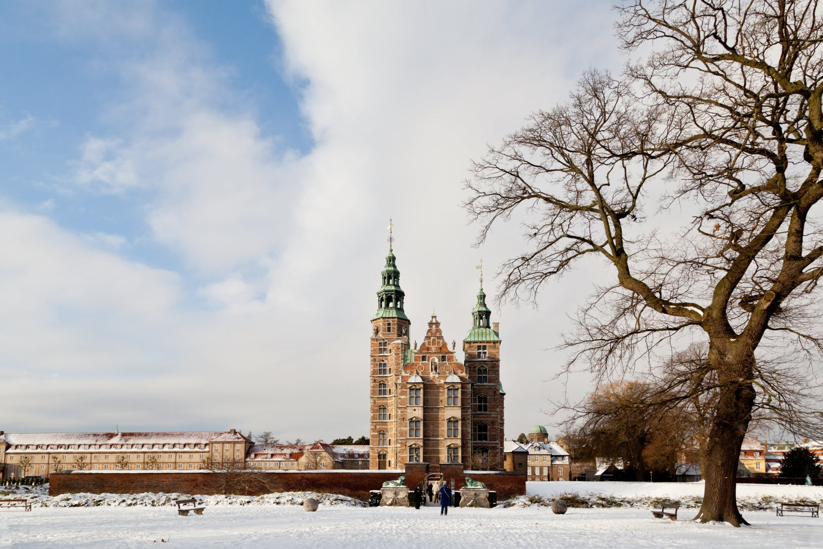 Rosenborg Castle at winter time
