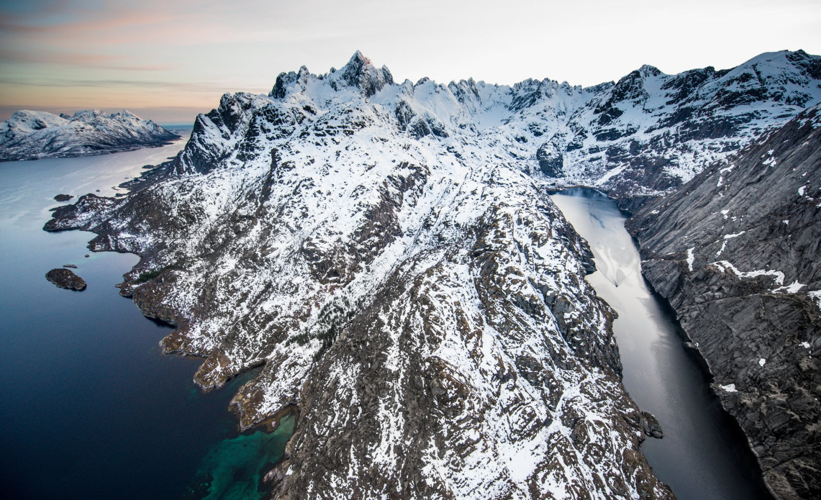 Fjords and mountains in Lofoten